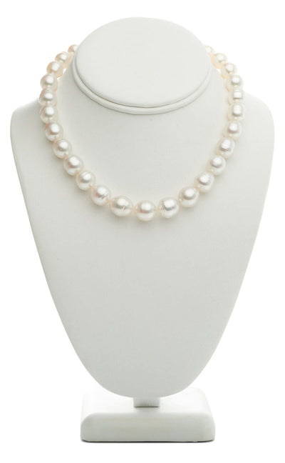 "18"" Baroque White South Sea Pearl Necklace: 10.0-12.4mm - AA+/AAA"