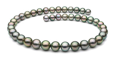 "18"" Round Tahitian Pearl Necklace: 8.9 - 10.8mm AA+/AAA"