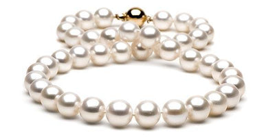 White Freshwater Pearl Necklace: 10.5-11.0mm