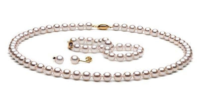 Akoya Pearl Jewelry Set: 6.0-6.5mm