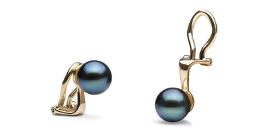Black Freshwater Clip-On Pearl Earrings: All Sizes