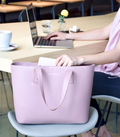 WHY PINK TOTE SHOULD BE YOUR NEXT WORK BAG!