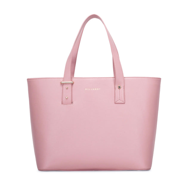 Leather Work tote Pink