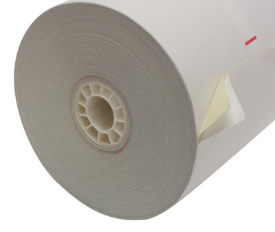 2 Ply Bond Paper Roll 3 1/4 x 95 ft white/canary carbonless
