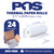 POS1 Thermal Paper 2 1/4 x 24 ft x 22mm CORELESS BPA Free fits Pidion BIP-1500 and Poynt 24 rolls