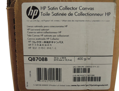 "HP Q8708B Collector Satin Canvas 24"" x 50 ft 2"" core"