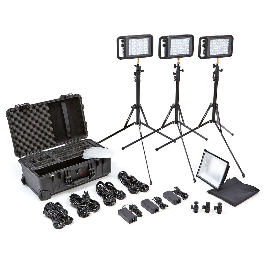 Litepanels Lykos Bi-Color Traveler Trio Kit
