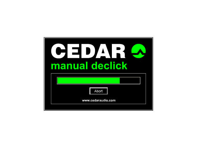CEDAR Declick/Decrackle for Pyramix 64
