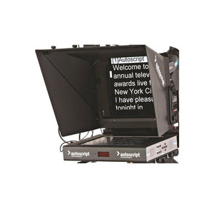 "Autoscript 15"" LED Color TFT on-camera prompter with Molded Hood"