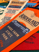 Load image into Gallery viewer, Borderland Festival Pennant by Oxford Pennant