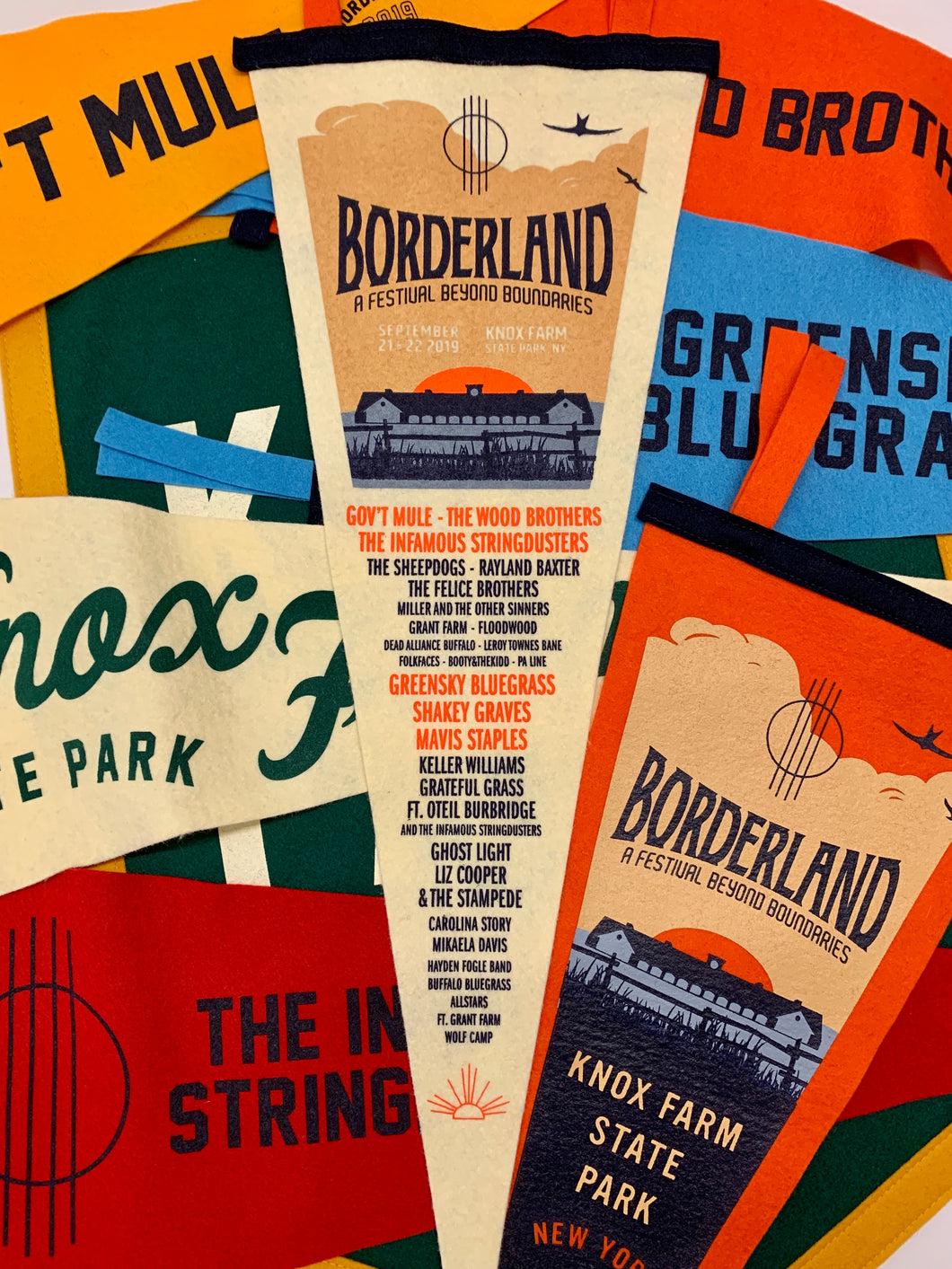 Borderland Festival Pennant by Oxford Pennant