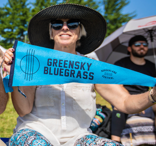 Greensky Bluegrass Pennant by Oxford Pennant
