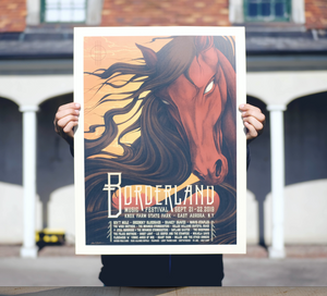 "Official 2019 Borderland Festival Poster ""Un-tamed"""