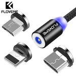 FLOVEME Magnetic Charger Cable Micro USB Type C Lighting Cable 2A Fast Charging Charge USBC/Type-C Wire For iPhone Samsung Cable - Mimundodigital