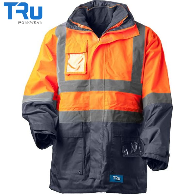 4 In 1 Rain Jacket Xs / Beyond Blue Orange Workwear