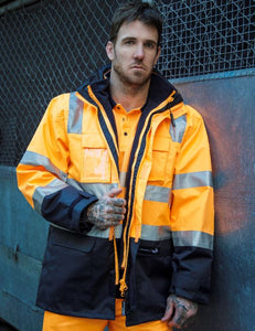 Peter Morrissey- Premium 5 in 1 Ripstop Rain Jacket, 3M Tape, Vic Rail Spec'
