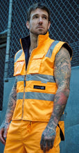 Load image into Gallery viewer, Peter Morrissey- Premium Rain Vest, Ripstop, 3M Tape, Vic Rail Spec'