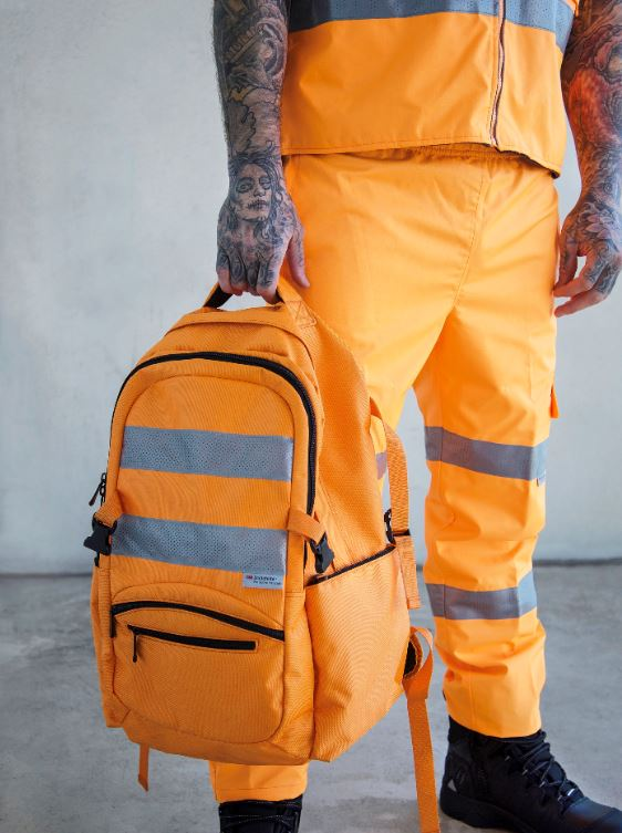 Rail Approved™ Back Pack with 3M Hi Viz Tape, Vic Rail Spec'