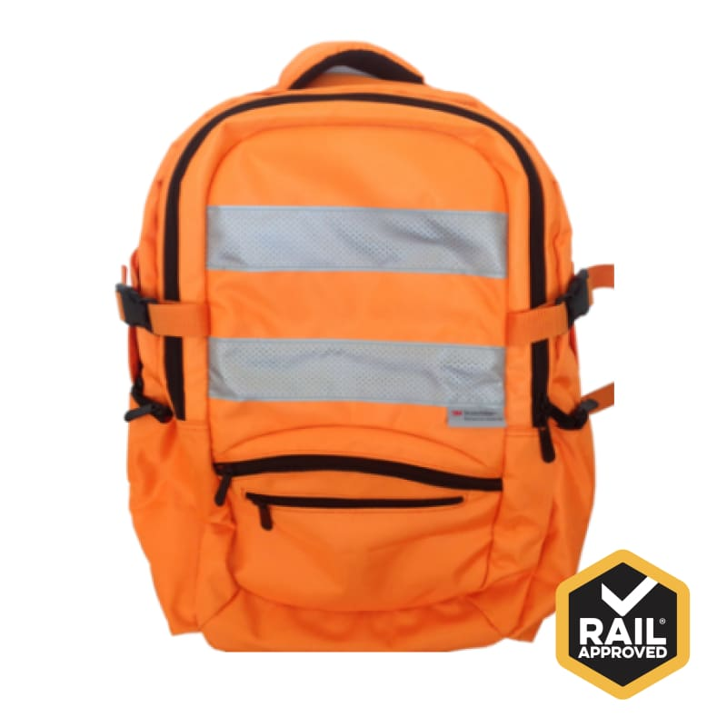 Back Pack With 3M Hi Viz Tape Rail Spec Safety Wear