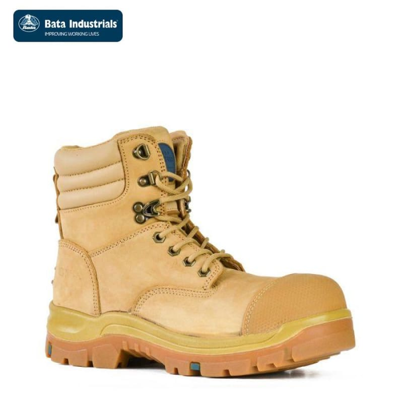 Bata Safety Boot Patriot Zip/lace Wheat Workwear