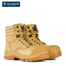 Load image into Gallery viewer, Bata Safety Boot Patriot Zip/lace Wheat Workwear