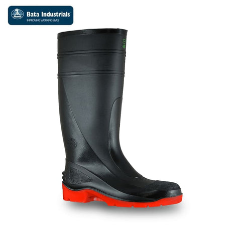 Bata Safety Gumboot Utility 400 Black/red Workwear