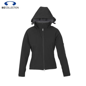 Biz Tech Ladies Summit Jacket Zip Hood Black/graphite Workwear