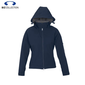 Biz Tech Ladies Summit Jacket Zip Hood Navy/graphite Workwear
