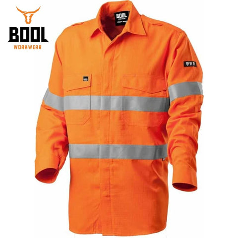 Bool Workwear Flame Retardant Shirt Fr Tape Orange