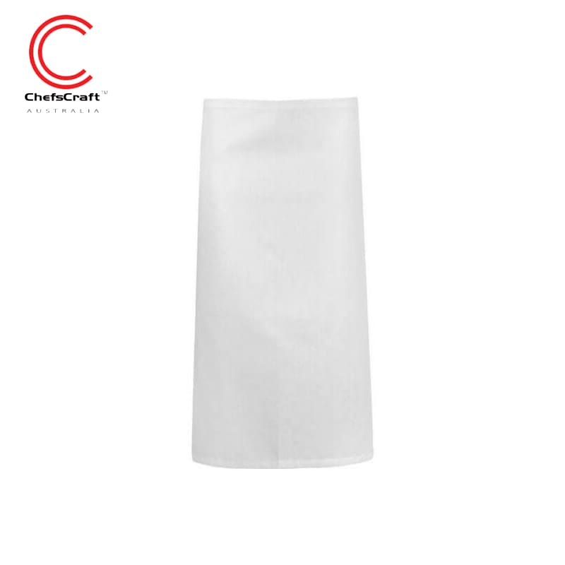 Chefscraft 3/4 Length Apron White Workwear