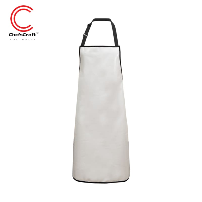 Chefscraft Apron Full Pvc Small White Workwear