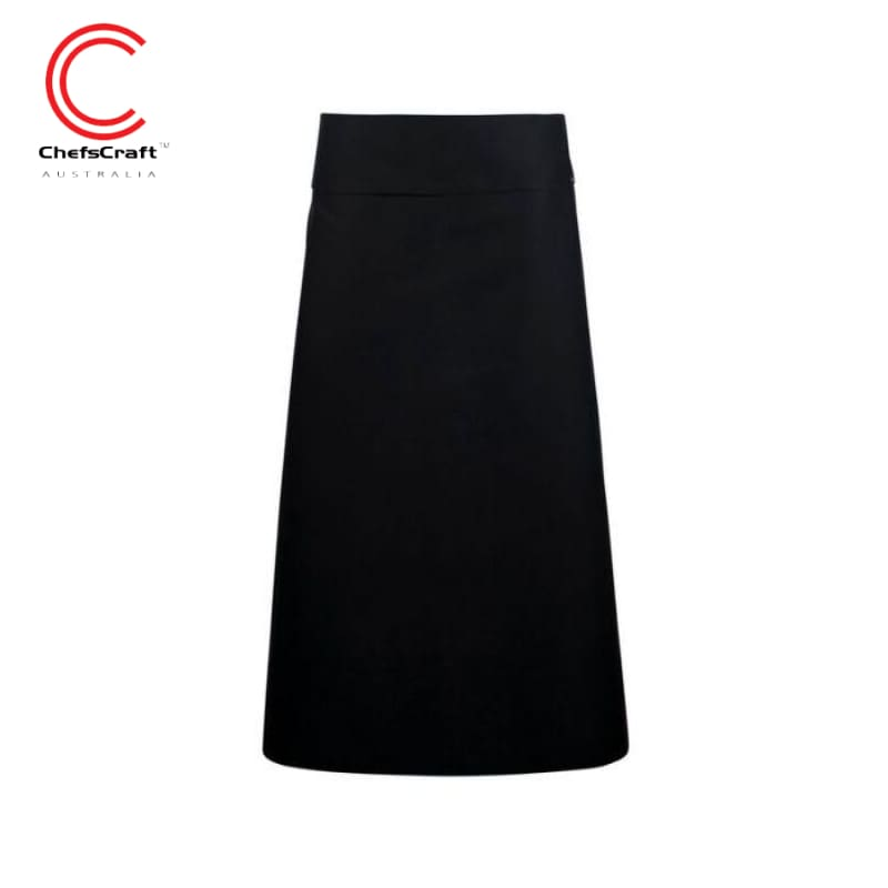 Chefscraft Continental Apron With Fold Over Black Workwear