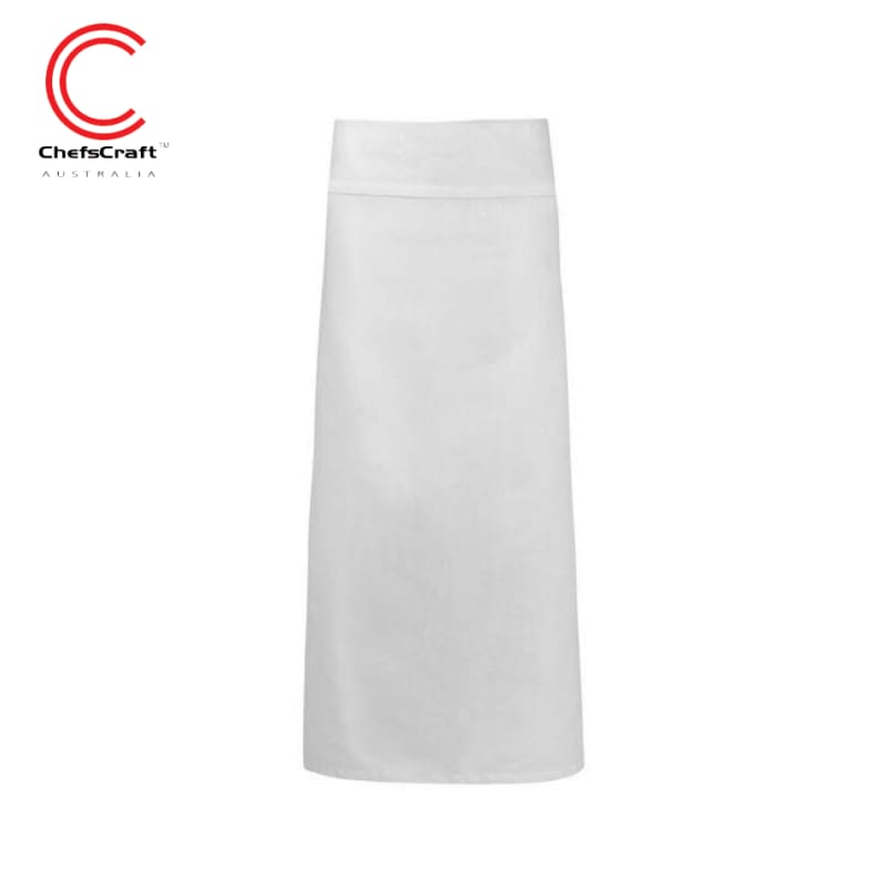 Chefscraft Continental Apron With Fold Over White Workwear