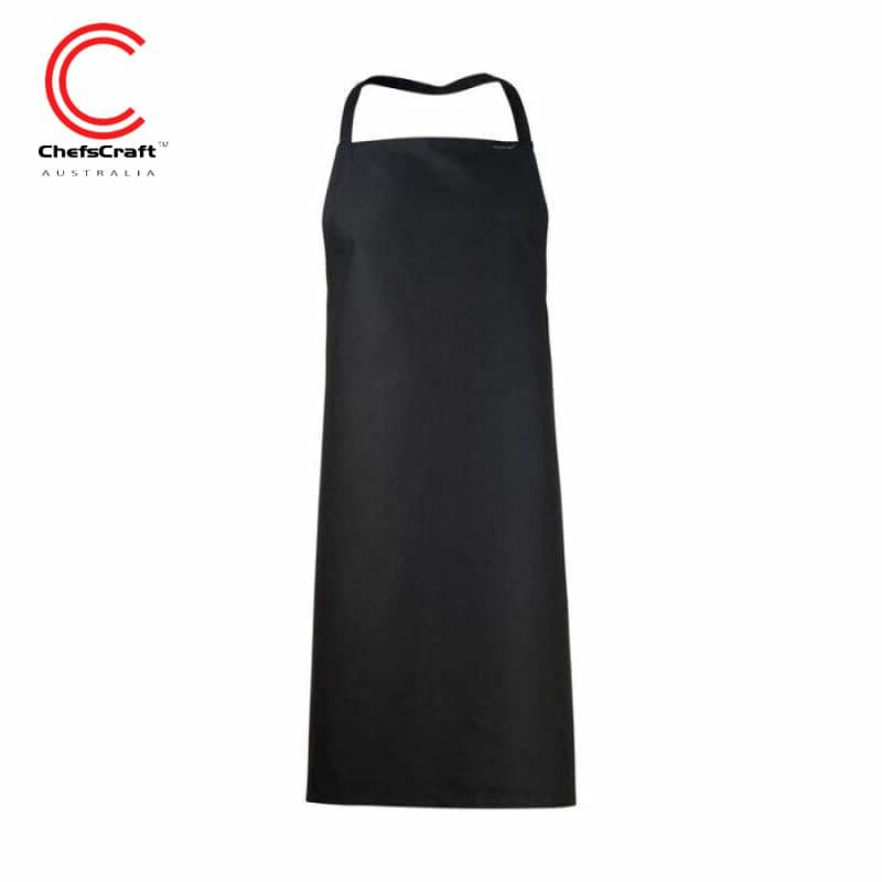 Chefscraft Full Bib Apron Black Workwear