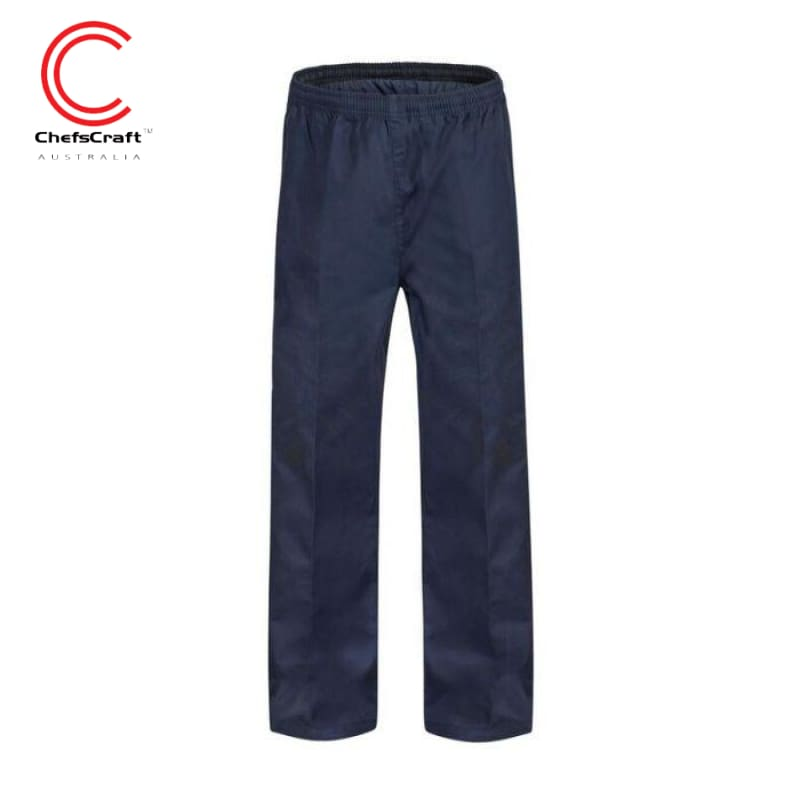 Chefscraft Pants Elastic Drawstring Dark Navy Workwear