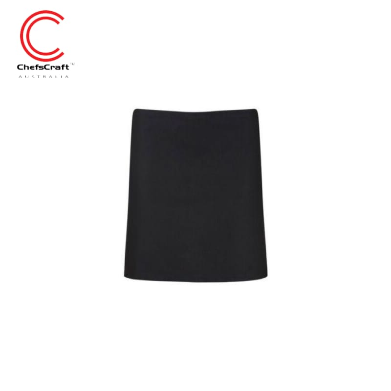 Chefscraft Quarter Apron Black Workwear