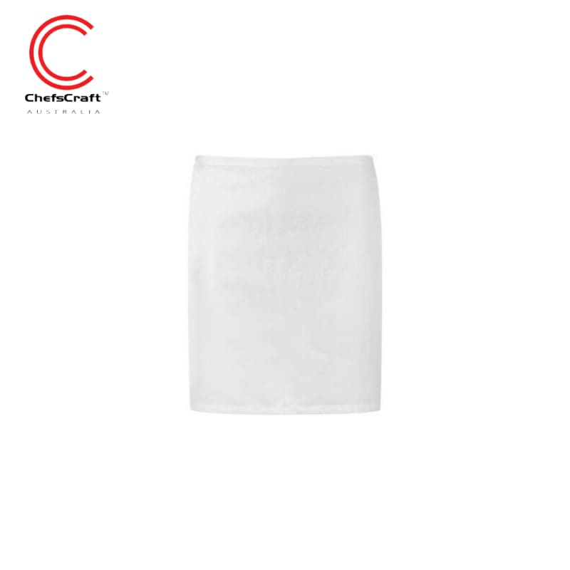 Chefscraft Quarter Apron White Workwear
