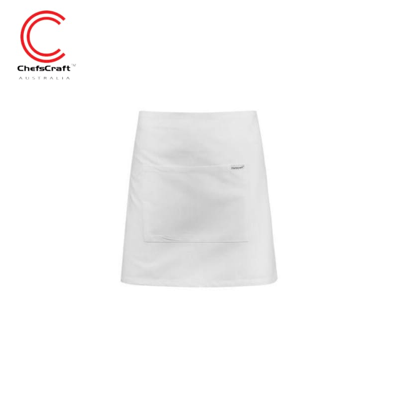 Chefscraft Quarter Apron With Pocket White Workwear