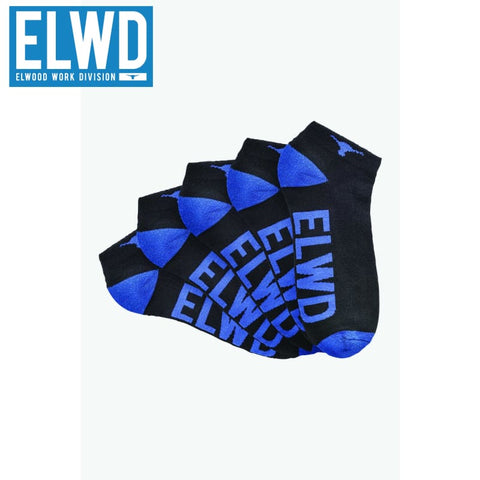 Elwd - Ankle Work Socks Cotton Blend 5 Pack Assorted Workwear
