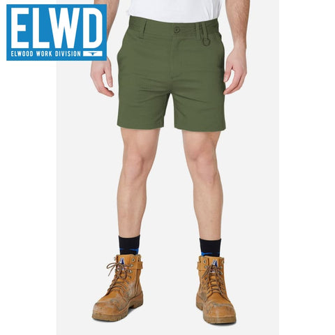 Elwd Workwear - Basic Shorts Cotton/poly Army