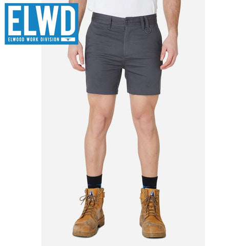 Elwd Workwear - Basic Shorts Cotton/poly Charcoal