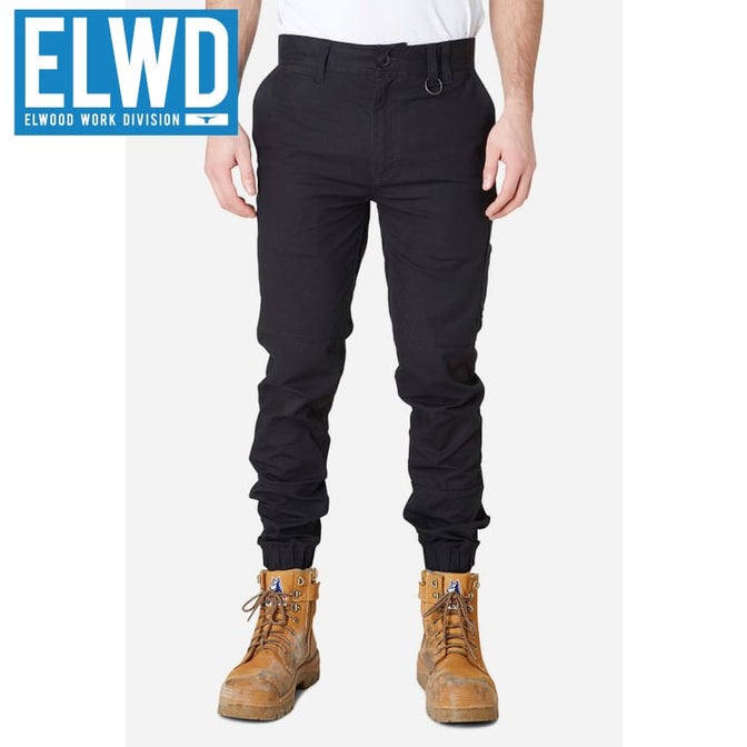 Elwd Workwear - Cuffed Pant Cotton/poly Black