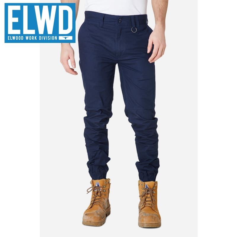 Elwd Workwear - Cuffed Pant Cotton/poly Navy