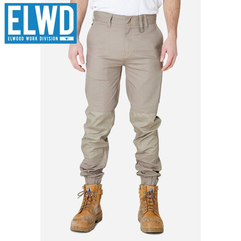 Elwd Workwear - Cuffed Pant Cotton/poly Stone