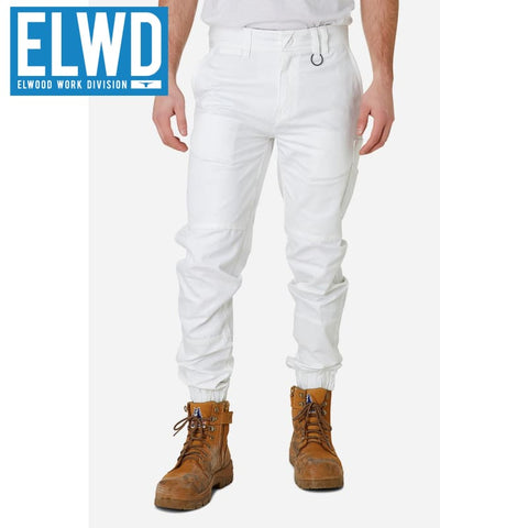 Elwd Workwear - Cuffed Pant Cotton/poly White