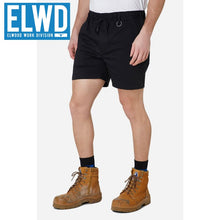 Load image into Gallery viewer, Elwd Workwear - Elastic Basic Shorts Cotton/poly Black