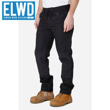 Load image into Gallery viewer, Elwd Workwear - Elastic Pant Cotton Black
