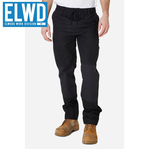 Elwd Workwear - Elastic Pant Cotton Black