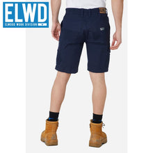 Load image into Gallery viewer, Elwd Workwear - Elastic Utility Shorts Cotton Canvas Navy