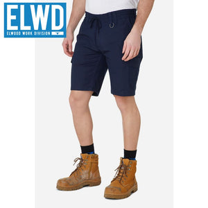 Elwd Workwear - Elastic Utility Shorts Cotton Canvas Navy